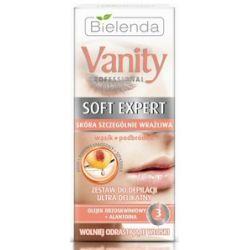 BIELENDA Vanity Soft Expert, Ultra delikatny zestaw do depilacji wąsik, podbródek, 100 ml...