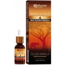 MINCER Marula Gold, Olejek Marula Eliksir 100%, każda cera, 15 ml...