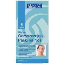 BEAUTY FORMULAS Czysta Skóra, Głęboko oczyszczające paski na nos, 6 szt....