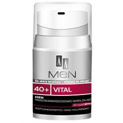 AA Men 40+ Vital, Krem przeciwzmarszczkowo - nawilżający, 50 ml...