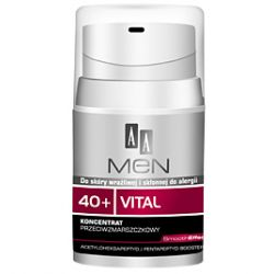 AA Men 40+ Vital, Koncentrat przeciwzmarszczkowy do twarzy, 50 ml...