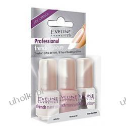 EVELINE Professional French Manicure, Zestaw 3 lakierów do profesjonalnego french - manicure