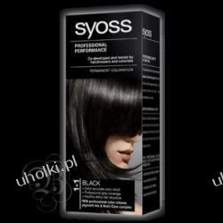 SYOSS Professional Performance, Krem trwale koloryzujący 1-1 Czerń