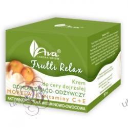 AVA Frutti Relax, Krem odmładzająco - odżywczy morela + witaminy C+E dla cery dojrzałej.
