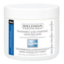 BIELENDA Professional, Transparentna ultranawilżająca maska algowa do twarzy, cera sucha i odwodniona, 170g/450 ml...