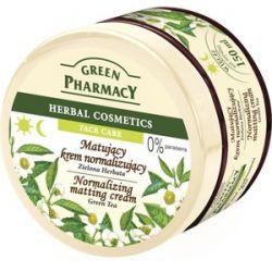GREEN PHARMACY, Matujący krem normalizujący Zielona Herbata, cera  tłusta i mieszana, 150 ml...