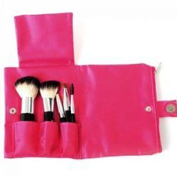 SYIS Make Up, Zestaw naturalnych pędzli do makijażu 7 sztuk w etui...
