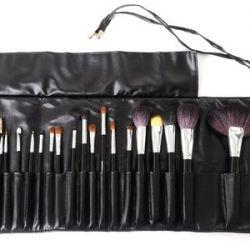 SYIS Make Up, Zestaw naturalnych pędzli do makijażu 20 sztuk w etui...