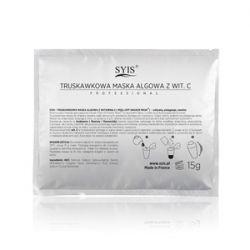 SYIS Peel - Off Shaker Mask, Truskawkowa maska algowa zmywalna, cera łojotokowa, trądzik, 15 g...