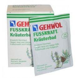 GEHWOL Fusskraft Krauterbad, Sól ziołowa do kąpieli stóp, 10x20 g...