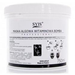 SYIS, Maska algowa z acerolą Witaminowa Bomba, cera szara, zmęczona, 750 ml...