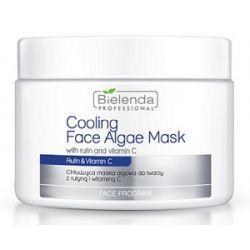 BIELENDA  Professional, Chłodząca maska algowa z rutyną i witaminą C, cera naczynkowa, rumień, 190g/500 ml...