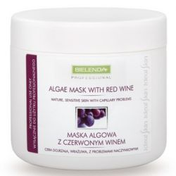 BIELENDA Professional, Maska algowa z czerwonym winem, cera naczynkowa, wrażliwa, 190g/500 ml...
