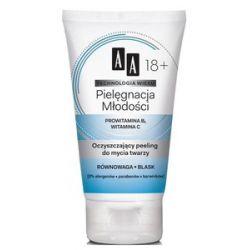 AA Technologia Wieku 18+, Pielęgnacja Młodości Peeling oczyszczający do mycia twarzy, 150 ml...