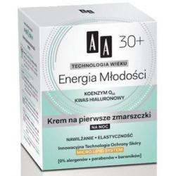 AA Technologia Wieku 30+, Energia Młodości Krem na pierwsze zmarszczki na noc, 50 ml...
