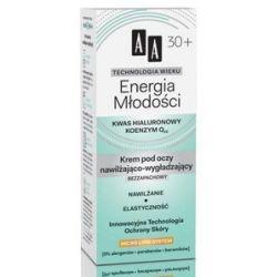 AA Technologia Wieku 30+, Energia Młodości Krem pod oczy nawilżająco - wygładzający bezzapachowy, 15 ml...