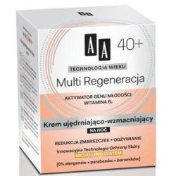 AA Technologia Wieku 40+, Multi Regeneracja Krem ujędrniająco - wzmacniający na noc, 50 ml...