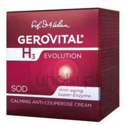 GEROVITAL H3 Evolution, Krem kojący na naczynka, cera naczynkowa, rumień, trądzik różowaty 30+, 50 ml...