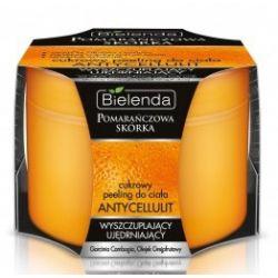 BIELENDA Pomarańczowa Skórka, Cukrowy peeling do ciała Antycelulit, Wyszczuplajacy i ujędrniający, 200 ml...