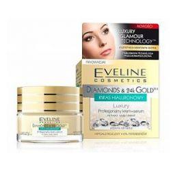 EVELINE Diamonds & 24k Gold, Profesjonalny krem - serum do twarzy, szyi i dekoltu, cera dojrzała, 50 ml...