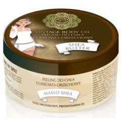 SPA Vintage Body Oil, Peeling cukrowo - orzechowy do ciała z masłem Shea Shea Butter, 200 ml...