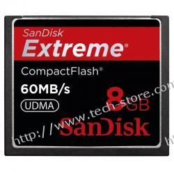 SANDISK COMPACT FLASH EXTREME 8GB 60MB/S ED