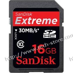 SANDISK SECURE DIGITAL SDHC EXTREME 16GB 30MB/s