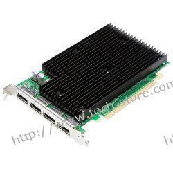 PNY Quadro NVS 450 512MB DDR3/128bit 4*DP(DVI) PCI-E (480/1400) (chłodzenie pasywne)