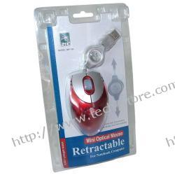 MYSZ A4-TECH BW-18K-1 MINI OPTYCZNA USB RED