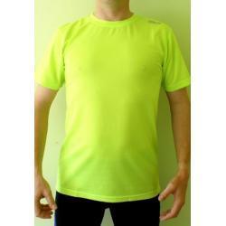 Koszulka do biegania Rogelli Promo zielona męska (drobna plamka)