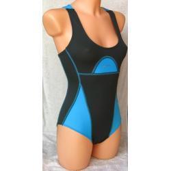 Strój kąpielowy damski Shepa 024 grafitowo-błękitny