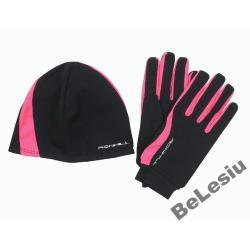 Czapka i rękawiczki do biegania Ronhill damski