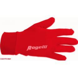 Rękawiczki do biegania Rogelli czerwone unisex