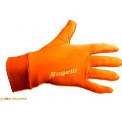 Rękawiczki do biegania Rogelli pomarańczowe unisex