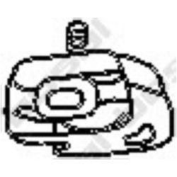 255-010 BSL 255-010 WIESZAK TLUMIKA TOYOTA COROLLA 1,8 GUMOWY SZT BOSAL CZESCI MONTAZOWE BOSAL [852507]...