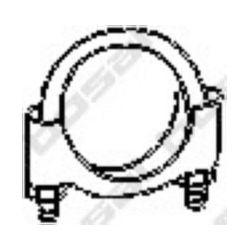 250-250 BSL 250-250 OBEJMA TLUMIKA 50 MM /M8/ UNIWERSALNA BSL 252-250 BOSAL CZESCI MONTAZOWE BOSAL [859428]...