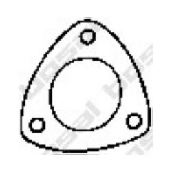256-063 BSL 256-063 USZCZELKA TLUMIKA - OPEL ASTRA F/CORSA A USZCZ KATAL BOSAL CZESCI MONTAZOWE BOSAL [860436]...