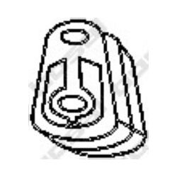 255-052 BSL 255-052 WIESZAK TLUMIKA FORD MONDEO 1,6 1,8 2,0 GUMOWY BOSAL CZESCI MONTAZOWE BOSAL [861429]...