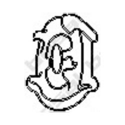 255-079 BSL 255-079 WIESZAK TLUMIKA MERCEDES 124 126 GUMOWY BOSAL CZESCI MONTAZOWE BOSAL [869280]...