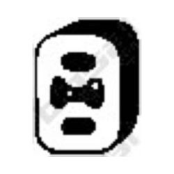255-076 BSL 255-076 WIESZAK TLUMIKA ALFA,FIAT BRAVO/A ,MAREA GUMOWY BOSAL CZESCI MONTAZOWE BOSAL [869714]...