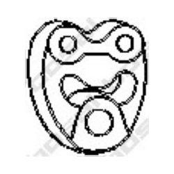 255-123 BSL 255-123 WIESZAK TLUMIKA MERCEDES GUMOWY BOSAL CZESCI MONTAZOWE BOSAL [882330]...