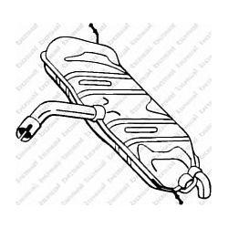 233-807 BSL 233-807 TLUMIK BOSAL AUDI A3/VW GOLF V 1.6 FSI 03 SZT BOSAL TLUMIKI BOSAL [901725]...