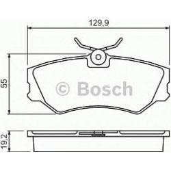 0 986 460 941 BO 0986460941 KLOCKI HAMULCOWE BP511 VW TRANSPORTER 90 - KPL BOSCH KLOCKI BOSCH [904213]...