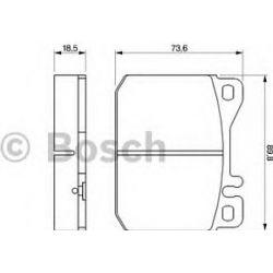 0 986 462 803 BO 0986462803 KLOCKI HAMULCOWE VW LT 2,0/2,4 75-96 KPL BOSCH KLOCKI BOSCH [908155]...