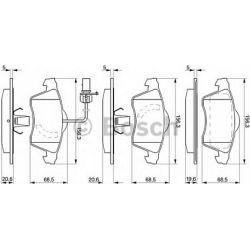 0 986 424 537 BO 0986424537 KLOCKI HAMULCOWE BP289 VW TRANSPORTER IV 92 - KPL BOSCH KLOCKI BOSCH [909502]...