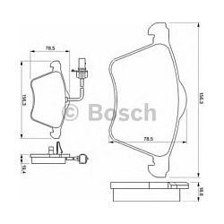 0 986 424 780 BO 0986424780 KLOCKI HAMULCOWE BP921 FORD GALAXY/SEAT ALHAMBRA/VW SHARAN KPL BOSCH KLOCKI BOSCH [911716]...