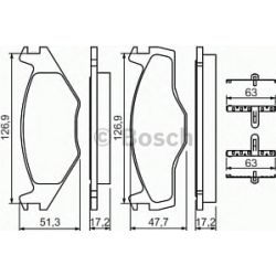 0 986 494 057 BO 0986494057 KLOCKI HAMULCOWE BP567 SEAT CORDOBA/IBIZA/VW POLO/POLO CLASSIC KPL BOSCH KLOCKI BOSCH [926213]...