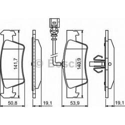 0 986 494 309 BO 0986494309 KLOCKI HAMULCOWE BP1237 VW TRANSPORTER V TOUAREG 03 KPL BOSCH KLOCKI BOSCH [935082]...