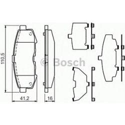 0 986 494 319 BO 0986494319 KLOCKI HAMULCOWE BP1209 MAZDA MPV II 02 KPL BOSCH KLOCKI BOSCH [938671]...