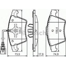 0 986 494 107 BO 0986494107 KLOCKI HAMULCOWE BP1017 VW MULTIVAN/TRANSPORTER 2003 - KPL BOSCH KLOCKI BOSCH [944041]...
